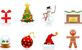 Set of 8 Christmas Icons/Symbols/Design elements Fully editable vector graphics Eps 8 file with high res jpg included