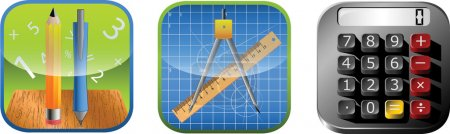 App Measurement/Math Icon set