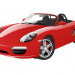 Fast sports car isolated on a white background.Vec...