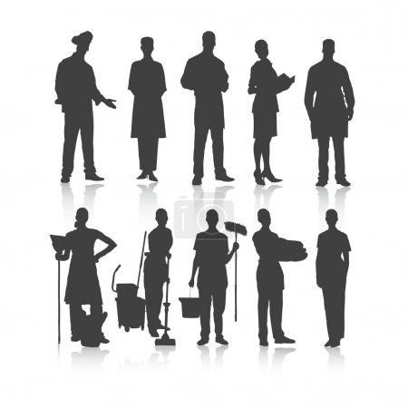Illustration pour Profession de gens. Vecteur . - image libre de droit