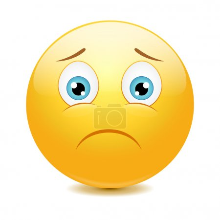 Illustration for Sad emoticon, vector illustration - Royalty Free Image