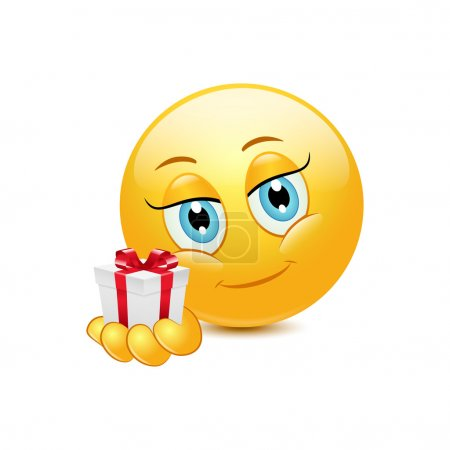 Emoticon giving gift