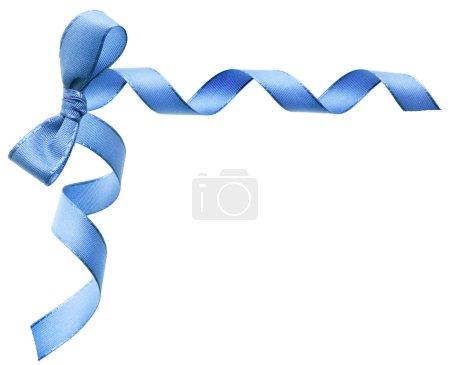 Blue holiday ribbon bow