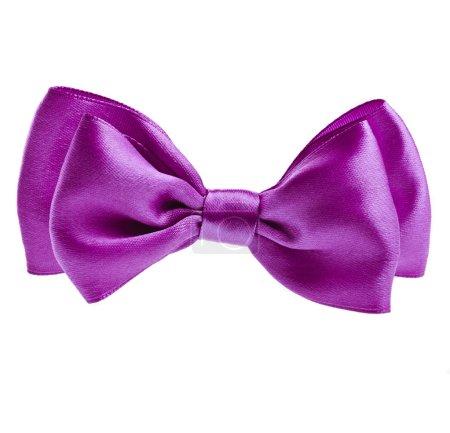 Lilac ribbon bow tie