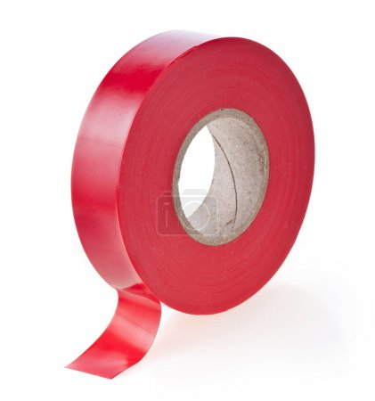 Photo for Adhesive sticky tape on white - Royalty Free Image
