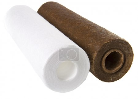 New and used blocks filters for cleaning water in equipment plumbing pipe , filter for water treating