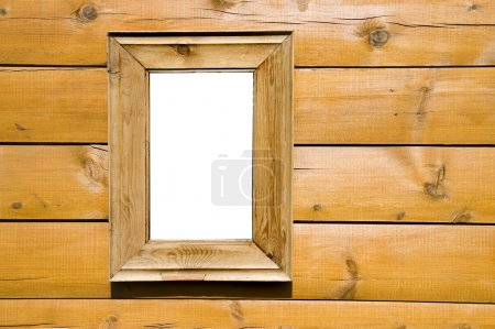 Photo pour Cadre de fenêtre en bois dans la maison - image libre de droit