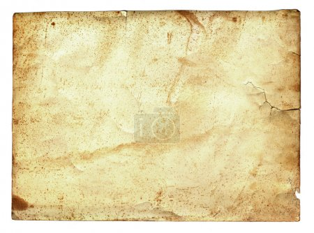 Old paper grunge isolated on white background