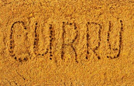 Photo pour Surface de mélange de poudre de curry - image libre de droit