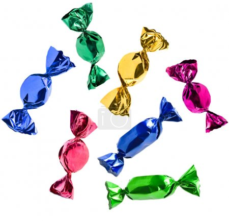 Photo for Colorful candies Isolated - Royalty Free Image