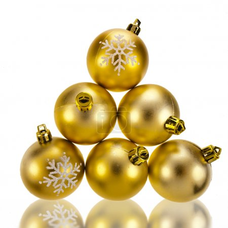 christmas bauble balls isolated on a white background