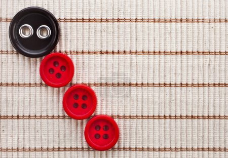 Photo for Row color buttons cotton fabric texture - Royalty Free Image