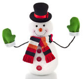 Happy Christmas snowman , isolated on white background