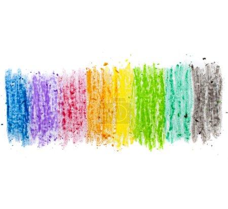 Photo pour Texture colorée pastel bâton poussière sur papier blanc isolé - image libre de droit