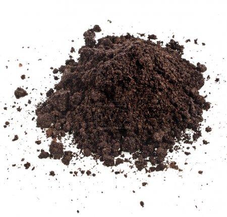 Pile heap of soil humus