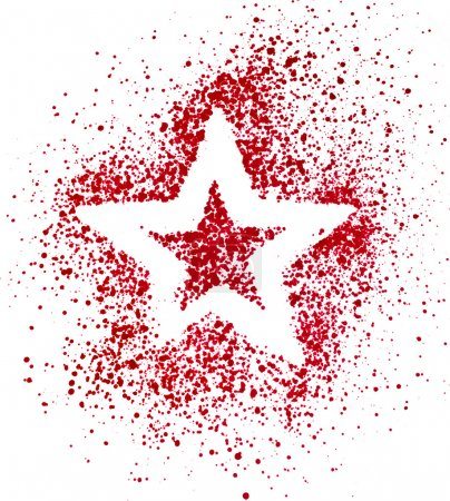Blank Red Star drawing air color pen