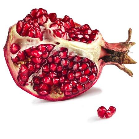 One Ripe pomegranate fruit