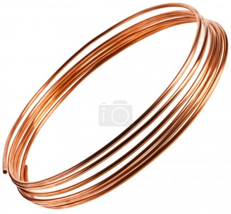 Copper pipes isolated
