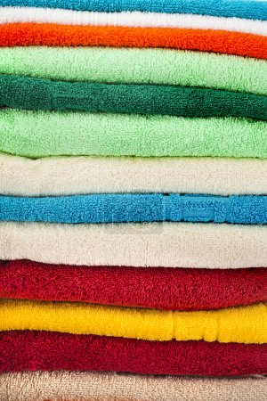 Photo for Stack of colorful towels - Royalty Free Image
