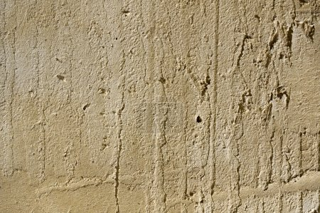 Wet plaster wall surface