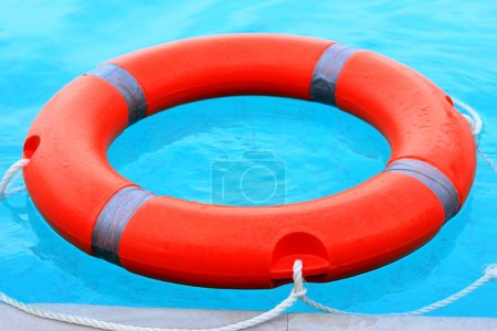 Ring buoy in the swimming pool.