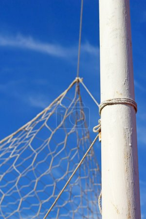 Close up soccer nets goal football