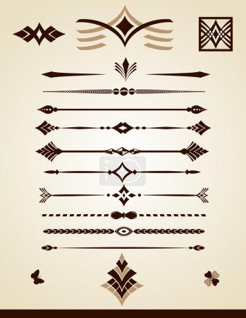 Illustration pour Collection de lignes de division de page ou de texte - image libre de droit