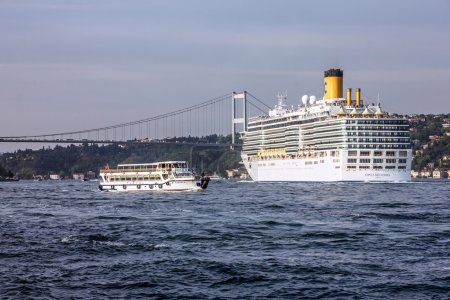 Cruise liner Costa Delisioza in Istanbul