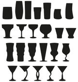22 Vector Silhouette Cocktail Glasses