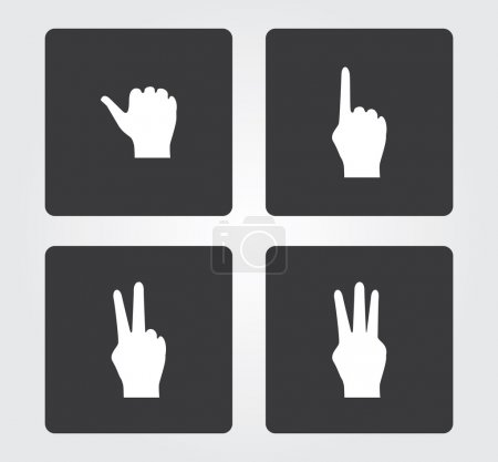 Website and Internet icons: hand