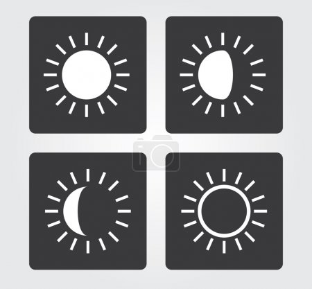 Website and Internet icons: light intensity