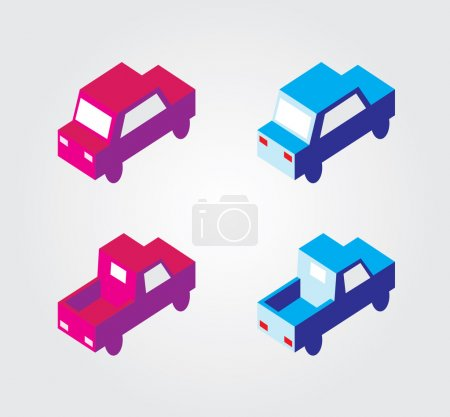 Simple web icon in vector: isometric transport