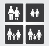 Simple web icon in vector: Family set