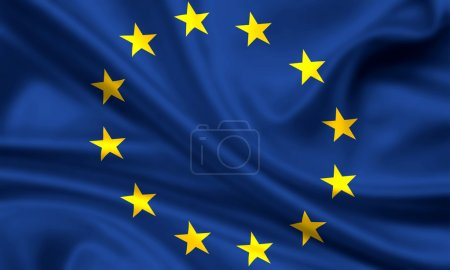 Photo for Waving flag of europe - Royalty Free Image