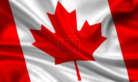 Photo pour Drapeau agitant du Canada - image libre de droit