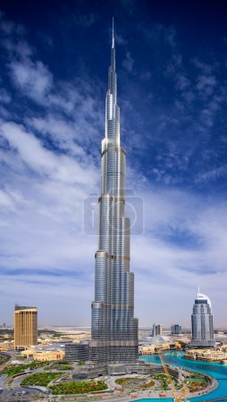 Downtown Dubai view with the Burj Khalifa and the Address Hotels