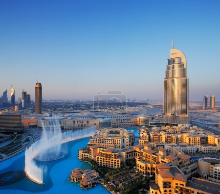 Downtown Dubai is becoming even more popular for tourism largely because of the dancing water fountain