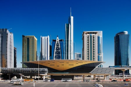 Jumeirah Lakes Towers is a rapidly expanding district of Dubai and is graced by many beautiful architectural towers and a new metro station