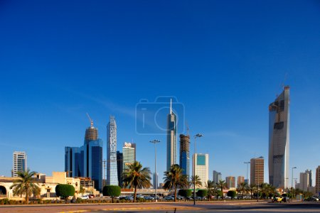 The Kuwait City Skyline is rapidly becoming populated by skyscrapers