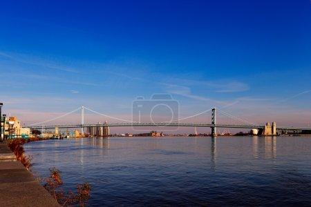 View of Philadelphias Ben Franklin bridge