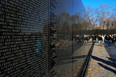 The Vietnam Veterans Memorial in Washington DC, USA