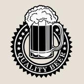 Fancy seal certifying Quality Beer in black