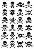 Crossed Swords with Skulls vector collection in white background