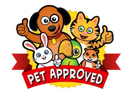Illustration pour Sceau approuvé pour animaux de compagnie - image libre de droit