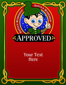 Santa's Elf Approval Card Diploma