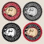 Original Smoked Bacon Seal / Mark in four variatio...