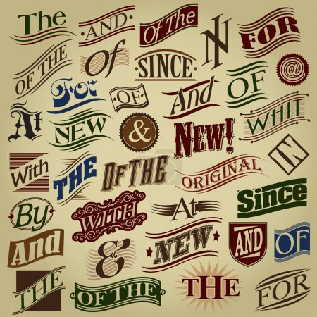 Set of Essential Retro Calligraphic Designs