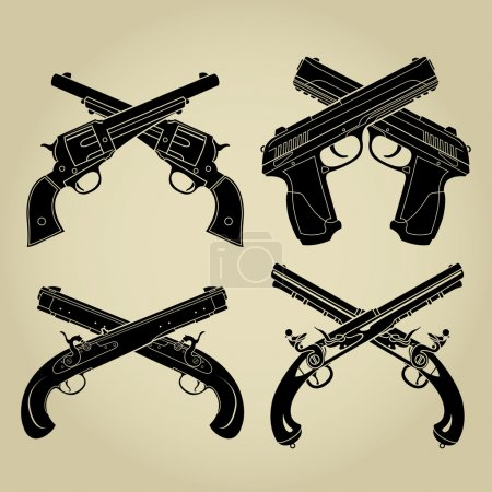 Evolution of Firearms, Crossed Silhouettes