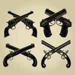 Evolution of Firearms, Crossed Flintlock, Percussi...