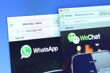 WhatsApp and weChat Webpage
